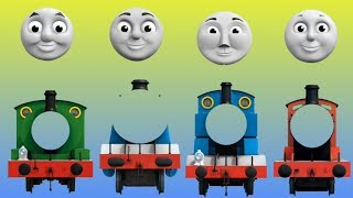Wrong Face Thomas and friends Finger Family Nursery Rhymes Song - Kids Home