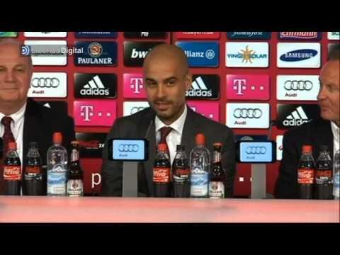 Guardiola habla en alemán en su presentación con el Bayern Múnich