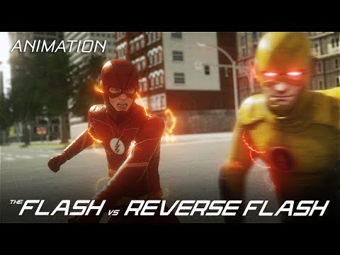 The Flash VS Reverse Flash - CW 3D Fan Animation