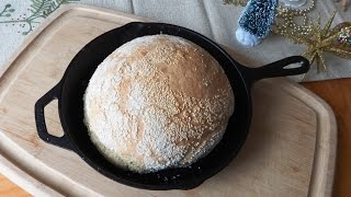 "How to Bake No-Knead ""Turbo"" Bread in a Skillet (ready to bake in 2-1/2 hours)"