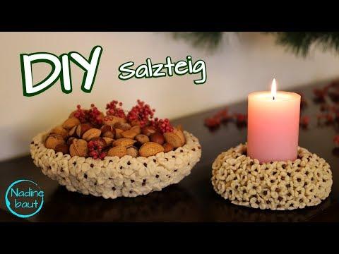 DIY - Salzteig selber machen - Salzteig Deko - salt dough - creations - recipe
