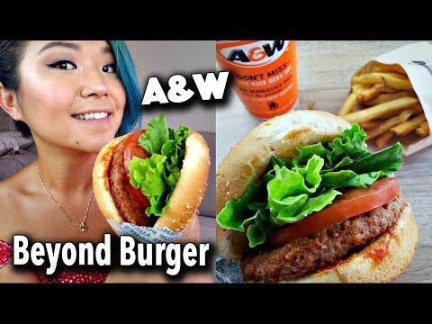 A&W BEYOND BURGER TASTE TEST!!!! (vegan mukbang/eating show)