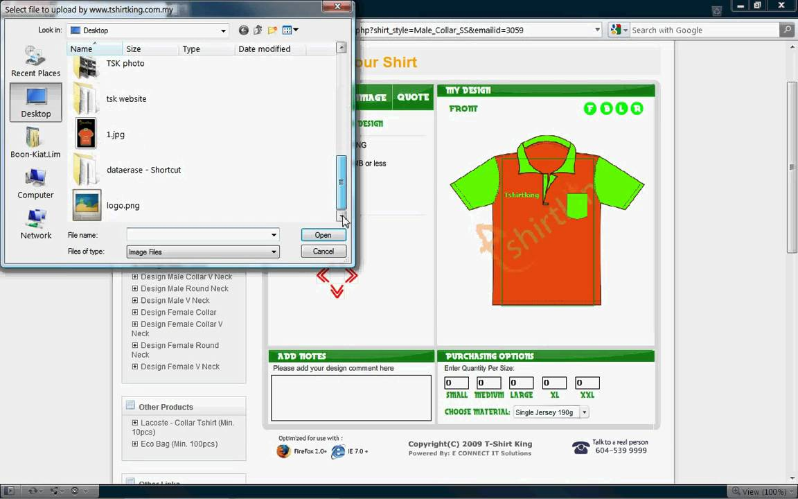 Tshirtking online tshirt design tool design tshirt on for Online software design tool