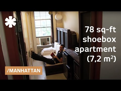 Manhattan shoebox apartment: a 78-square-foot mini studio