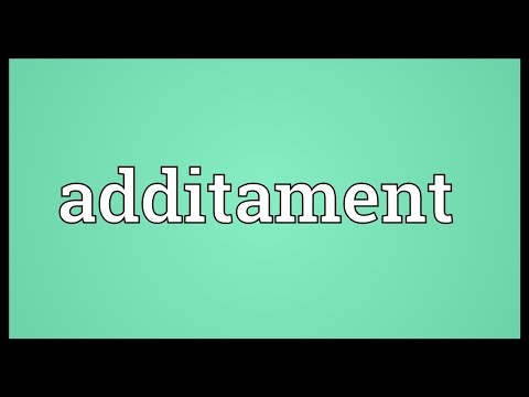 Header of additament