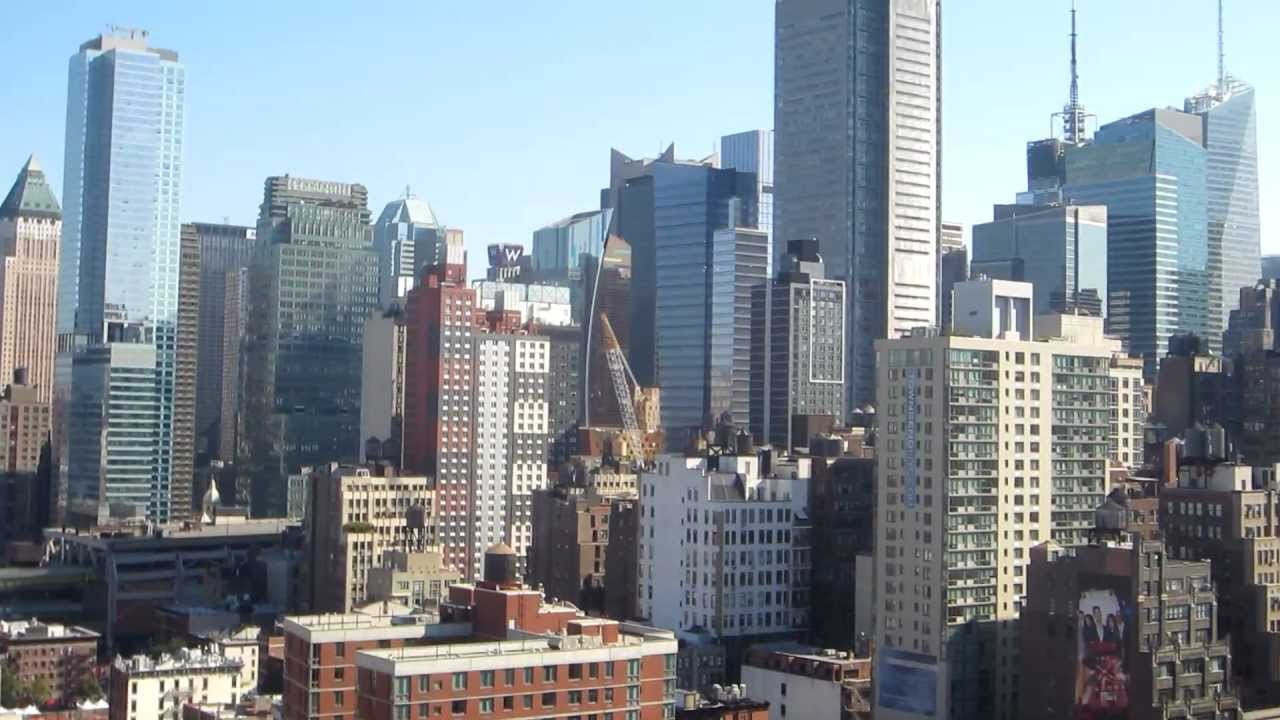 New York City View From Building Roof Top Deck Youtube