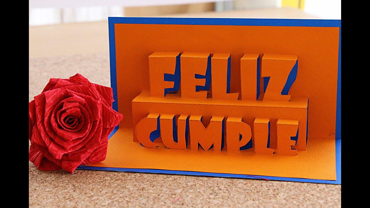 Feliz Cumpleaños Tarjeta Pop Up 3D happy Birthday Remake YouTube
