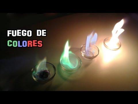 Como Hacer Fuego de Colores | Experimentos Caseros