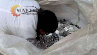 Aluminum plastic separator testing video for Slovenia customer