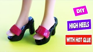 DIY HOT GLUE BARBIE SHOES - Simplekidscrafts