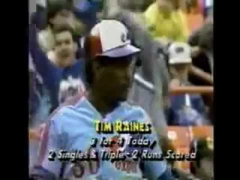 Tim Raines - Montreal Expos vs NY Mets May 2nd, 1987