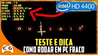 Outlast 2 Gameplay Em PC Fraco Na Intel HD Graphics (Teste Bem Detalhado) #346