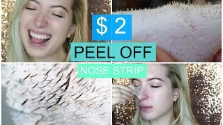 DIY $2 Peel Off Nose Strip | Best Peel Off Mask REMOVES EVERYTHING 2016