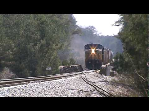 CSX northbound freight the Cartersville Local at Lake Allatoona,GA