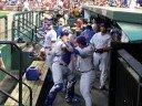 Chicago Cubs Dugout-Pregame Soto Handshake: 9/10/08