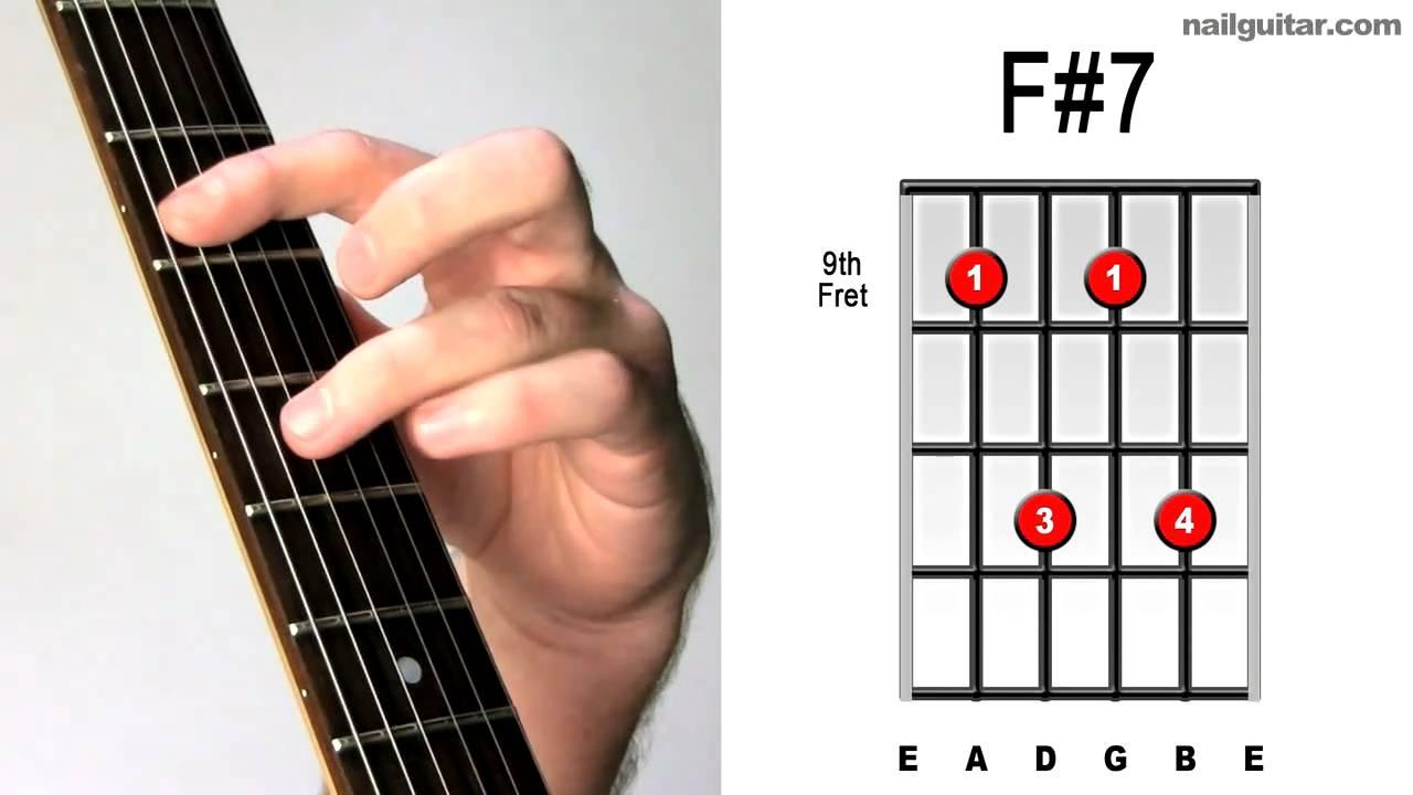 F#m7 Bar Chord F#7 ♫♬ Guitar Chord Tutorial