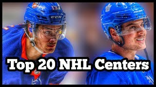 Top 20 Centers In The NHL