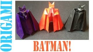 Origami Daily - 326: Batman - Tcgames [hd]