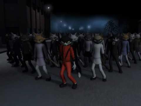 Michael Jackson Thriller Gatos - animação em homenagem - Thriller...