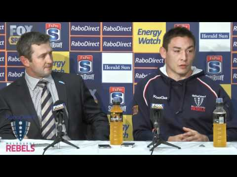 Rebels post-Waratahs match press conference