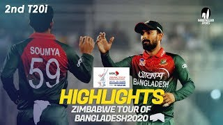 Highlights | Bangladesh vs Zimbabwe | 2nd T20I