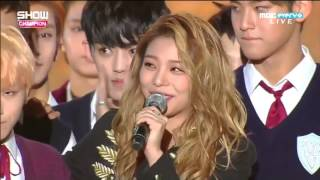 151007 @ Show Champion AILEE X SEVENTEEN MOMENT!