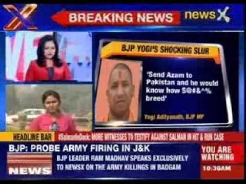 Yogi Adityanath targets Azam Khan with vile epithet