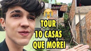 A REALIDADE DA MINHA VIDA!! TOUR PELAS 10 CASAS QUE MOREI....