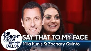 Download Lagu Say That to My Face Challenge with Mila Kunis and Zachary Quinto Gratis Mp3 Pedia