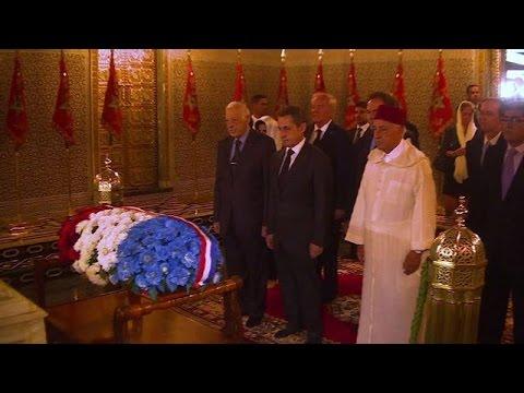 Ex-French president Sarkozy visits Mohammed V mausoleum in Rabat