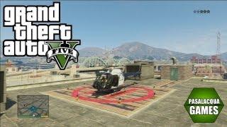 GTA V - Como pegar o helicóptero da polícia !