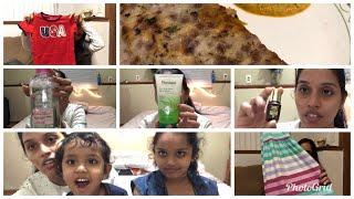#DIML/kids clothing haul/my night skincare routine/tomato coconut chutney😋