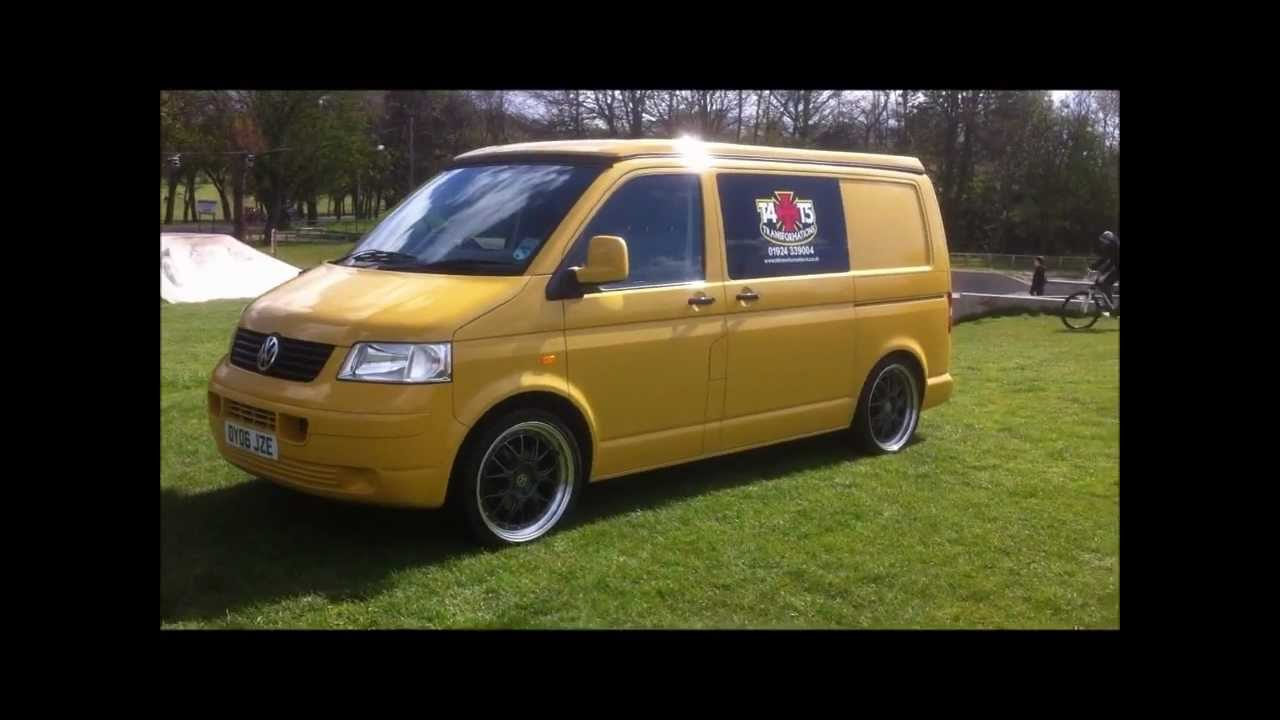 vw transporter t5, our demo yellow van by t4 ...