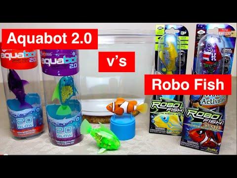 Aquabot 2.0 v Robo Fish - Head-to-Head Review with 6 Robotic Fish - Hexbug v's Zuru