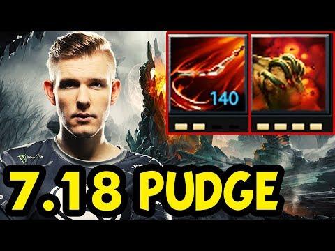 Evil Geniuses Crit Practicing Pudge (Roaming Support) For Ti8 Dota 2 Update 7.18
