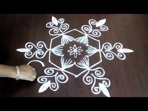 Latest Creative 5 x 3 Chukkala Muggulu  || Simple Daily Kolam || Fashion World