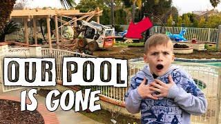 Getting Rid of Our Pool - Matt's Birthday Midlife Crisis || Mommy Monday