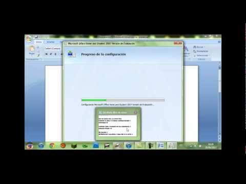 Tutorial - Cómo validar Microsoft Office Home and Student 2007