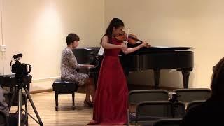 Amy Sze, Violin Concerto No 2 in g minor, Op  63, I Allegro moderato, Prokofiev, 2017 10 03