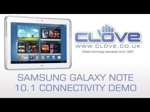 Samsung Galaxy Note 10.1 Connectivity Demo