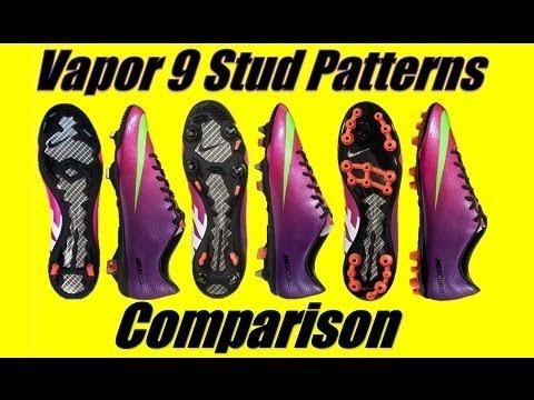 Nike Mercurial Vapor 9 IX Stud Pattern Comparison - AG VS FG VS SG-Pro