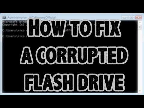 ◀How to Fix A Corrupted USB Flash Drive