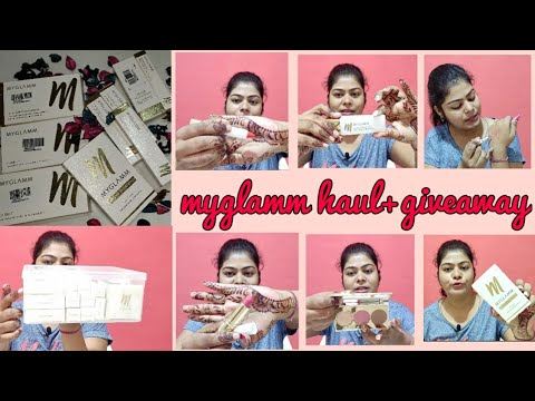 Myglamm haul+giveaway. | Myglamm best products review and unboxing. | Myglamm butterlicious lipstick