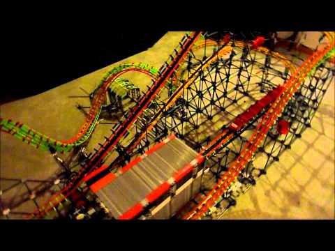 knex corkscrew roller coaster