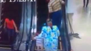 Weird ways to get on a escalator Arab styles