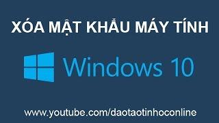 Video clip Hướng dẫn cách gỡ bỏ mật khẩu máy tính Win 10