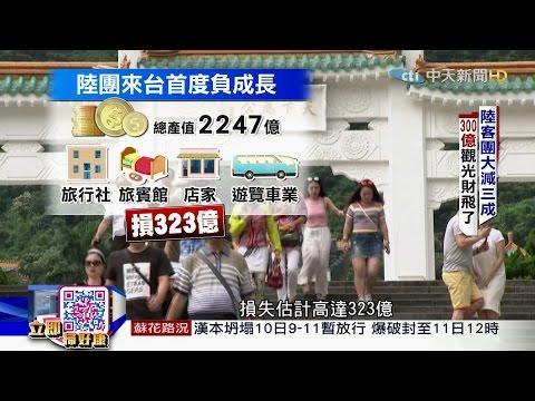 台灣-中天調查報告-20160710 消失的陸客