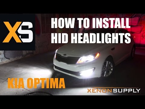 Kia Optima - How to Install HID Xenon (/w wiring harness) 2011+