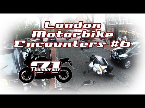 London Motorbike Encounters #6 – Eek cyclist and a scooter crashed.