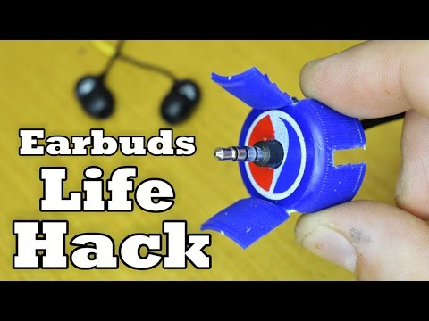 Never Tangle Earbuds LifeHack (made from pepsi cap)